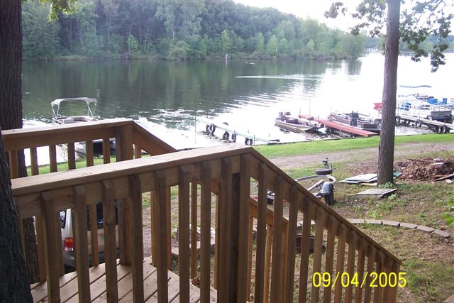 View from deck Cottage A