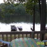 View to the water from deck on Cottage C